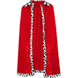 SATINIOR King Robe Queen Robe Cosplay Costume Stage Performances for Halloween Costume Party Accessory Red Robe (Adult Size)