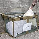 【日本製】ベルソス カラスゴミボックス ゴミ出し番長 カラスルー ワイド 約170L 幅90cm VS-G081 [モスグリーン] [日本製]