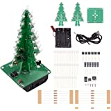 IS ICStation DIY Soldering Practice, 3D Christmas Tree Electronic Assemble Kit, Circuit Solder STEM Project for Student Teens