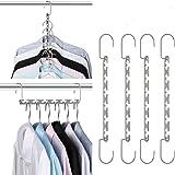Giftol Space Saving Hangers Metal Wonder Hanger Magic Cascading Hanger Closet Clothes Organizer, 20 Pack