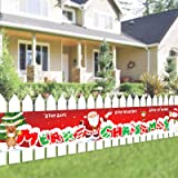 Merry Christmas Banner Decoration - Xmas Holiday Indoor Outdoor Hanging Banner Idea for Christmas Party Decorations Supplies