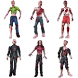HAPTIME 6 Pcs Zombie Action Figures 3.75 inch Detailed Walking Dead Toys Terror Corpse Dolls