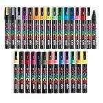 Uni Posca Paint Marker FULL RANGE Bundle Set, Mitsubishi Poster Colour ALL COLOR Marking Pen Medium Point 29 Colours...