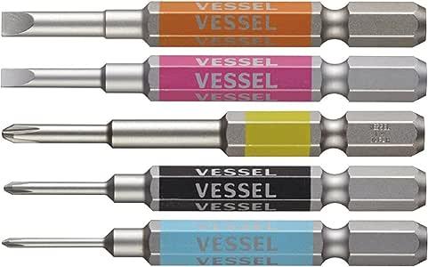ベッセル(VESSEL) 剛彩ビット 5本組 片頭+00/+0/+1/-3/4-×65 GS5P-03