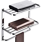 LUANT 3-Tier Bathroom Shelf with Towel Bars, Stainless Steel Wall Mounting Rack,22-1/2 Inch