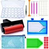 22 Pieces 5D Diamonds Painting Tools and Accessories Kits with Diamond Painting Roller and Diamond Embroidery Box for Adults