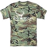 Mens I Like Big Bucks and I Cannot Lie Tshirt Funny Deer Hunting Tee
