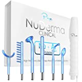 NuDerma Clinical Skin Therapy Wand - Portable High Frequency Skin Therapy Machine w 6 FUSION Neon + Argon Wands – Anti Aging