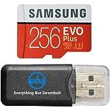 Samsung Evo Plus 256GB MicroSD Memory Card & Adapter Works with GoPro Hero 9 Black (Hero9) 4K UHD, UHS-I, U1, Speed Class 10,