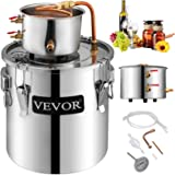 VEVOR Moonshine Still 9.6Gal 38L Stainless Steel Water Alcohol Distiller Copper Tube Home Brewing Kit Build-in Thermometer fo