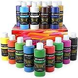 GOTIDEAL Acrylic Paint Set, 18 Colors/Tubes(100ml, 3.4 oz) Non Toxic Non Fading,Rich Pigments for Artist, Hobby Painters, Adu