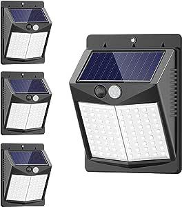 【2019最新・LED寿命5000時間以上・2200mAh電池・10時間超長照明】4個セット90LED LEDセンサーライト ソーラーライト SEZAC IP65防水 人感センサー 自動点灯 太陽光発電 転化率18%UP 屋外ウォールライト 270°照明範囲 屋外/庭/玄関など対応
