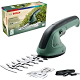 Bosch EasyShear Cordless Garden Shears with Shrub and Grass Blades (Integrated 3,6V, Micro USB charger, Runtime: 40 min, Blad