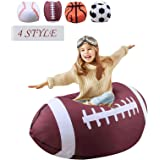 Stuffed Animal Storage Bean Bag Chair For Kids 26 Inch Extra Large Blanket Fill Beanbag Cover,Plush Toy Organizer For Child,