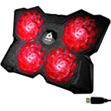 KLIM Wind - Laptop Cooling Pad - The Most Powerful Rapid Action Cooling Fan - Laptop Stand with 4 Cooling Fans at 1200 RPM -