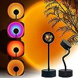 Sunset Projection Lamp LED Night Light, 360 Degree Rotation Sunset Projector Light Floor Lamp, USB Romantic Visual Modern Flo