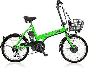 電動自転車 20インチ カゴ付き 折りたたみ パスピエ20R 軽量リチウム5Ahバッテリー シマノ外装6段ギア サンヨーLEDライト 電動アシスト自転車 Passepied 20R (型式認定車両/TS/