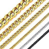 ChainsHouse 45cm 12mm 喜平 ネックレス チェーン メンズ ゴールド k18 ステンレス 金属アレル…