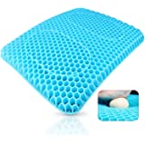 Double-layer Gel Design Gel Seat Cushion Gel Pad Provides Excellent Support For Lower Back, Spine, Hips Promotes Venting & Go