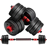 Verpeak Adjustable Dumbbell Set with Barbell - Best for Home Gym Weight Lifting, Fitness Workout Exercise. Suitable for Men &