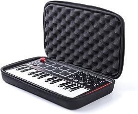 Nice Cool for Akai Professional USB MIDIキーボードコントローラー 8パッド MPK mini MK2 収納ケース MPK mini MK2 保護ボックス キャリーケース (ブラック)