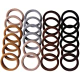 CCINEE Brown Series Hairbands,Seamless hair loop,Girl Elastic Hair Ties Sweet headband hair Ring-24Pieces