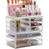 Sorbus Cosmetic Makeup and Jewelry Storage Case Holder - Spacious Drawer Design - Great for Bathroom Counter, Dresser, Vanity