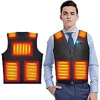 【2020進化版 電熱ベスト 】 加熱ベスト ヒートジャケット 超軽量 独立温度設定 7つ加熱エリア ヒーターベスト 3…