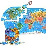 世界地図 ジグソーパズル 早期教育のジグソーパズルのおもちゃ 100ピース 子供向けジグソーパズル 英語版