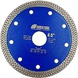 SHDIATOOL Diamond Mesh Turbo Saw Blade 4 1/2 Inch for Tile Porcelain Ceramic Marble Brick with X Continuous Rim Segment