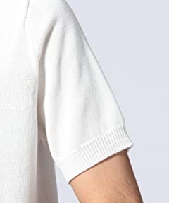 Short Sleeve Crewneck Sweater 1118-136-0217: White
