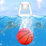 """Swimming Pool Basketball Hoop Set - 9"""" Pool Ball with Inflatable Basketball Hoop Included - Fun Dive Toy Pool Game for Underw"""