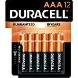 Duracell - CopperTop AAA Alkaline Batteries - Long Lasting, All-Purpose Triple A Battery for Household and Business - 12 Coun