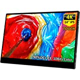 4K Portable Touch Monitor,Corkea 14 Inch 3840×2160 Resolution IPS UHD Touchscreen Display,HDMI/USB C Input,Wide Color Gamut,S