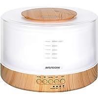 【1台4役】 MUSON(ムソン) 加湿器 超音波式 アロマディフューザー 大容量500ML 安眠グッズ 癒し音楽内蔵…