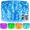 Ollny Rope Lights 180 LED 33ft 16 Multi Colors Changing Outdoor String Fairy Twinkle Strip Tube Lights with Remote Plug in Li