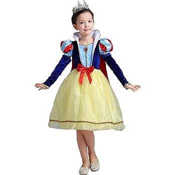 4a4d981a32745 白雪姫 キッズ コスチューム セット (ドレス アームカバー マント) プリンセス ワンピース ...