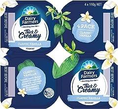 Dairy Farmers Dairy Farmers Vanilla Yoghurt - Chilled, 4 x 110g