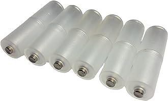 4号电池 → 3号电池号电池号电池转换适配器白色垫片6本套装电极侧带盖