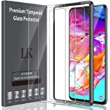 LK [3 Pack] Screen Protector for Samsung Galaxy A70 Tempered Glass (Easy Installation Tray) HD Clear Case Friendly with Lifet