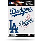 Rico Industries Los Angeles Dodgers Triple Sticker Multi Decal Spirit Sheet Auto Home Baseball