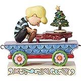 Enesco Peanuts by Jim Shore Schroeder Christmas Concerto Train Car Figurine, 3.75 Inch, Multicolor