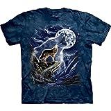 The Mountain Mens Wolf Spirit Moon Short Sleeve T-Shirt