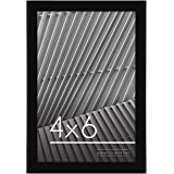 Americanflat 4x6 Picture Frame - Shatterproof Glass - Black