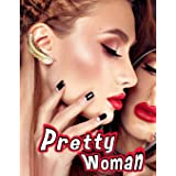 Pretty Woman: Grayscale Adult Coloring Book featuring Close-up Portraits of Beautiful Women