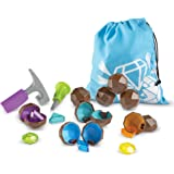 Learning Resources LER2875 Rock 'n Gem Surprise, Sorting, Matching & Counting Skills Activity Set, Early STEM, 19 Pieces, Age