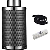 G-HYDRO 4 Inch Air Carbon Filter with Australia Virgin Activated Charcoal Prefilter Included Odor Control Scrubber for Grow T