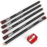 ARTEZA Eraser Pencil, Precision Latex-Free & PVC-Free Soft Eraser White Color Pencil with Brush and Pocket Size Sharpener, Se