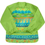 green sprouts Snap & Go Easy-wear Long Sleeve Bib 2T-4T Green Safari, Green, 2T-4T, 2.08 Ounces