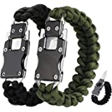 WEREWOLVES Paracord Knife Bracelet Survival Cord Bracelets, Emergency Tactical EDC Paracord Bracelet,Survival Gear Kit for Hi